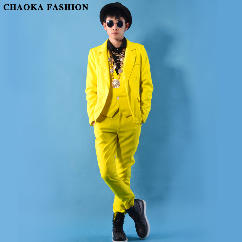 2015 Stage Costumes For Singers Mens Yellow Blazer Mens Unique Terno Veste Homme Club Outfits Bar Party Dress With Pant Slim FitОдежда и ак�е��уары<br><br><br>Aliexpress