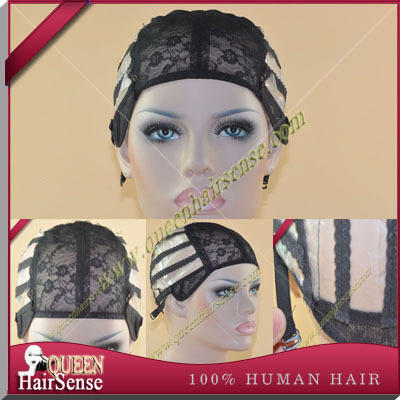 Wig Caps For Making Wigs adjustable straps back swiss lace full front lace wig cap wig weave net hair extension(China (Mainland))