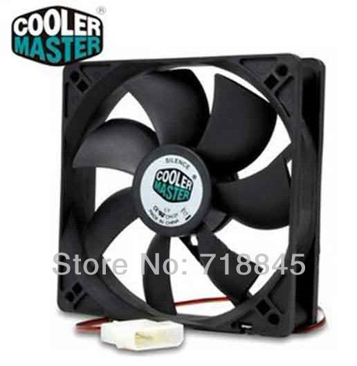 Black Color 12V 4Pin Cooler Master 120mm x 25mm 12025 7 Sickle Leaves Mute PC Case System Cooling Fan(China (Mainland))
