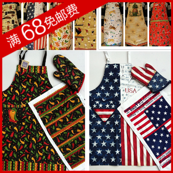 wholesale Plus size thickening personalized quality fashion gloves towel aprons set piece set gift(China (Mainland))