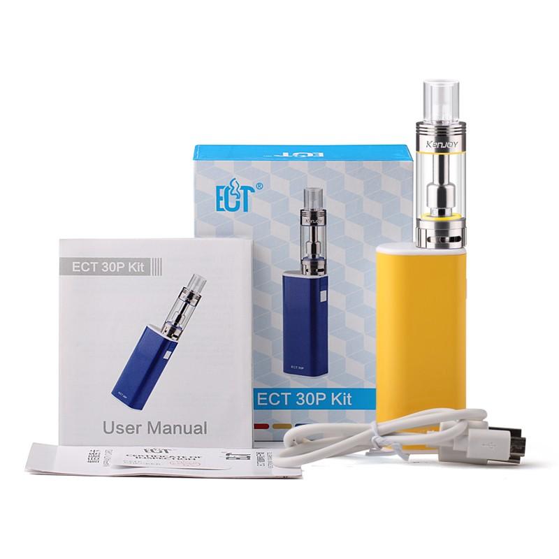 ถูก บุหรี่อิเล็กทรอนิกส์ECTกล่องเดิมพอควรeT 30 30วัตต์มินิตัดหมอกการควบคุมการไหลของอากาศVaporizerในตัว2200มิลลิแอมป์ชั่วโมงแบตเตอรี่E-บุหรี่