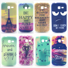 Cute Beautiful Pattern PC Hard Phone Cover Case For Samsung Galaxy Trend Lite S7392 S7390 7392 7390 Protective Back Case,PT548