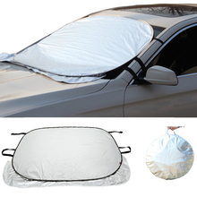 Tiptop Good Sale Jumbo Foldable Auto Car SUV Sun Shade Visor Block Front Window Windshield Cover SEP 8