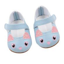 2018 nueva moda para los zapatos de las muñecas del bebé de 43cm para los zapatos de la muñeca del bebé Reborn 7cm Mini Shose de cuero 18 pulgadas muñeca Linda zapatos(China)