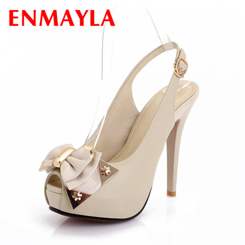 ENMAYER 2015 Women Mary Jane Sandals Sexy round Toe High Heels Party Prom Wedding Dress Summer Shoes Fashion Sandals shoes women<br><br>Aliexpress