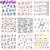 50 листов Смешанные Конструкции Передачи Воды Ногтей Наклейки Водяной Знак Наклейки DIY Украшения Для Ногтей Красота Инструменты Случайные Картины