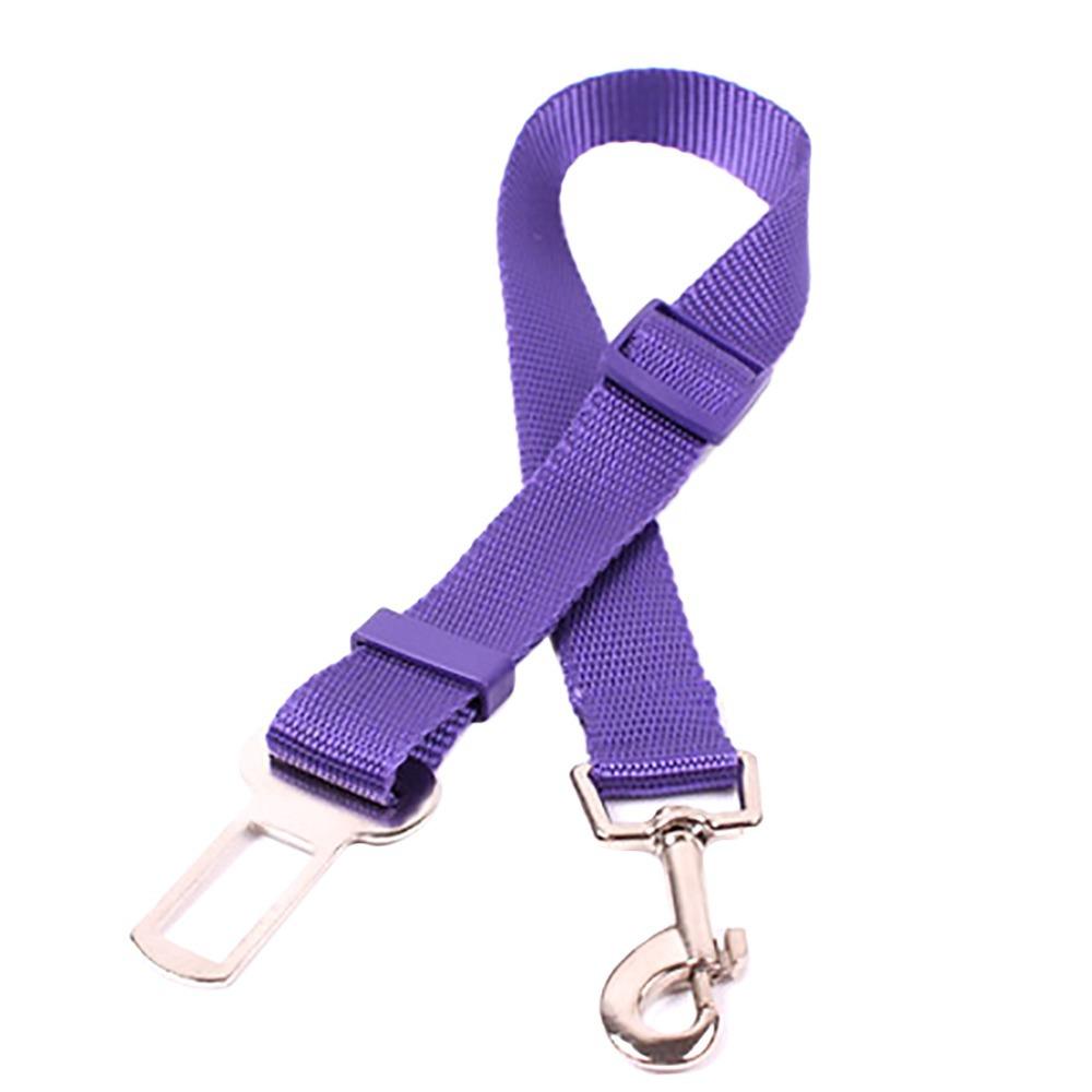 2015 NEW Car Seat Safety Belt Adjustable Seatbelt for Pet Dog on Vehicle Black Purple Blue
