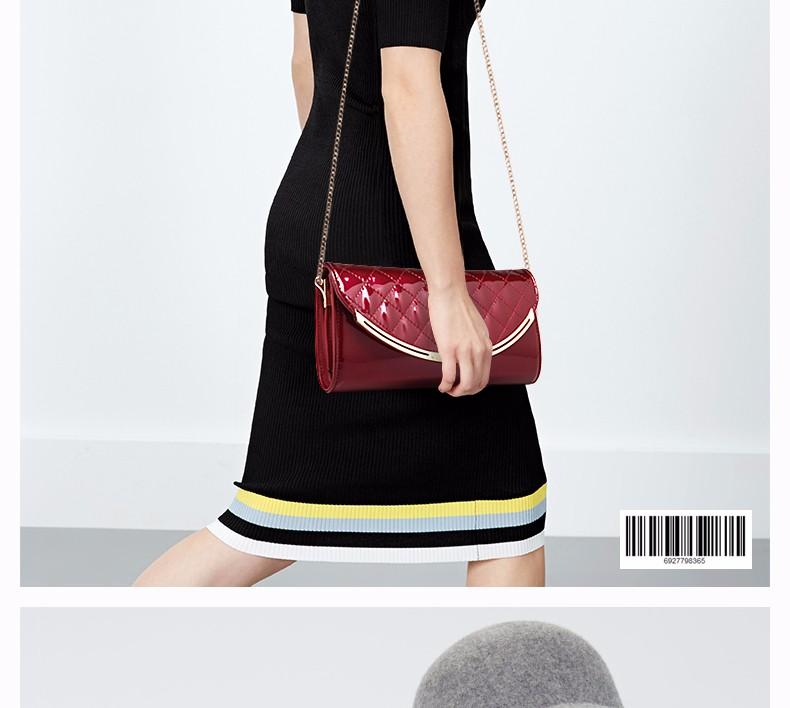 Fashion Trendy Quilted Bag Occident Style Women PU Classic Clutch Bag Classy Diamond Lattice Ladies Chain Bag Crossbody Bag