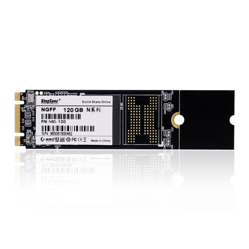 Computer Parts Shenzhen Kingspec Original 120GB SSD HDD 22*80mm NGFF M.2 MLC Solid State Disk Harddisk Drive for Laptop Notebook(China (Mainland))