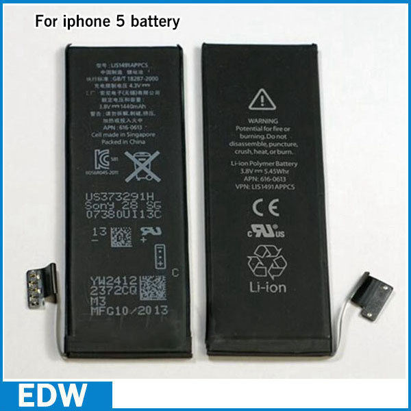100% New 1440 mAh 3.8 V Li-ion Power Bateria For iPhone 5 Battery Original Replacement Parts + Opening Tools(China (Mainland))