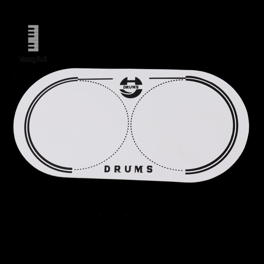 PETG EQ Double Bass Drum Patch For Drum Set Kit Bass Drum Percussion Musical Instrument Parts Accessories 12.8x6.5cm