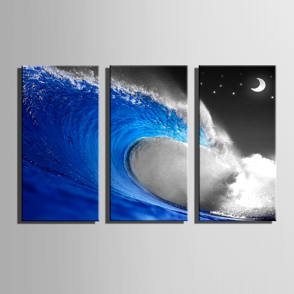 HD Oil Painting Blue Spray Decoration Painting Home Decor On Canvas Modern Wall Art Canvas Prints Poster Canvas Painting(China (Mainland))