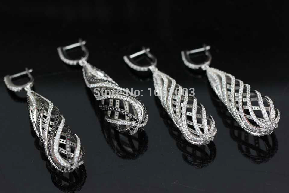 Queens crown Europe type style fashion Mosaic shine 925 Sterling Silver Wedding Party Earrings High Quality Jewelry XB95<br><br>Aliexpress