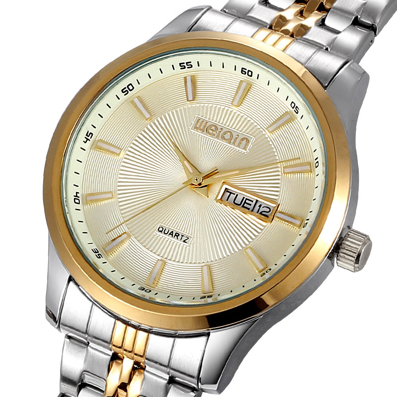 New 2015 WEIQIN Brand Men Watch Quartz Full Stainless Steel Watches Calendar Watch Luxury Wristwatches<br><br>Aliexpress