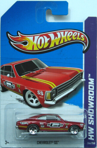 2013 red Chevrolet Hot Wheels toy car model alloy No. 241 Free shipping(China (Mainland))