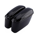 Oversea 2PCS Motorcycle Cruiser Hard Trunk Saddle Bag Box Side Luggage for Harley