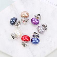 Vendita calda 1Pc Imitazione Della Perla del Cerchio Spilla DELL'UNITÀ di elaborazione Pulsante Delle Donne di Modo di Zircon Spille Colourful(China)
