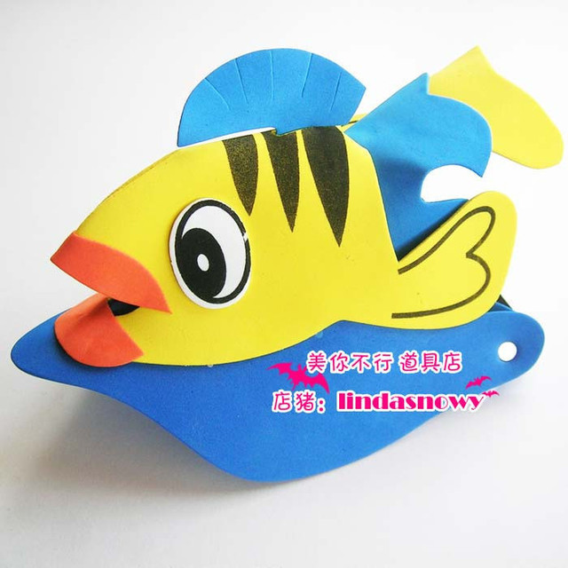 Kindergarten toy animal style hair accessory animal hat dollarfish hat child hair accessory