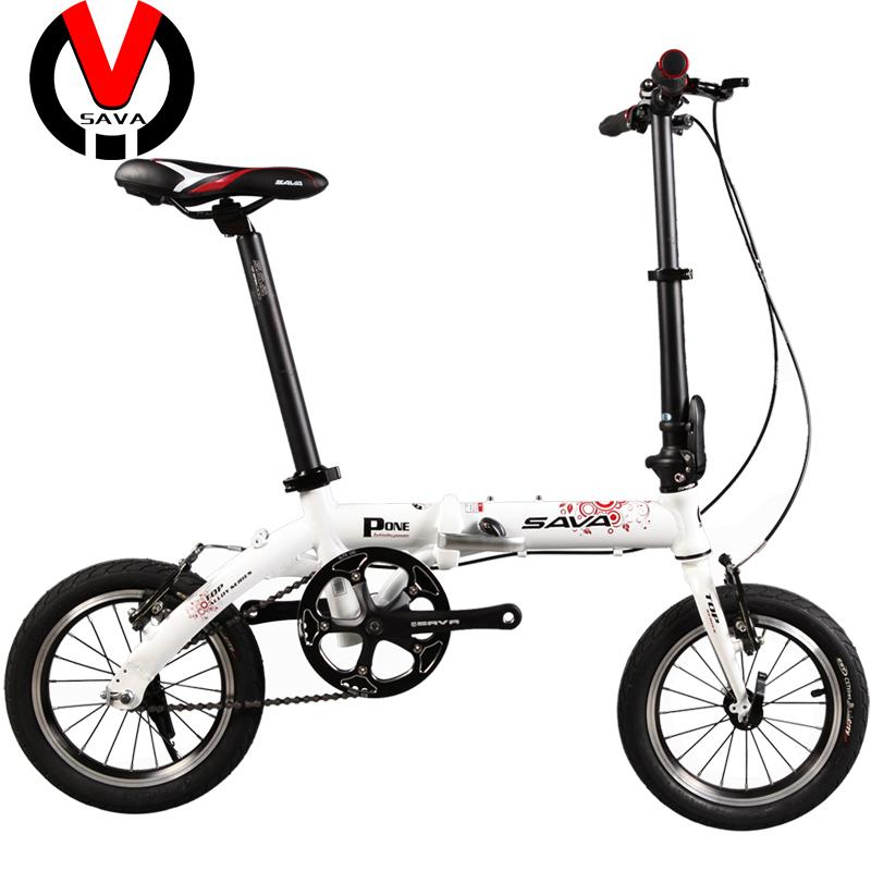 """SAVA Ultralight 8Seconds 14"""" Variable Speed Aluminum Folding Bike P-ONE,Portable V-Brake Folding Bicycle,Mini Bicicleta Plegable(China (Mainland))"""
