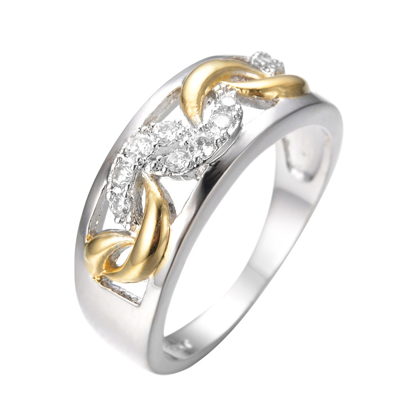 style silver gold ring white gold filled