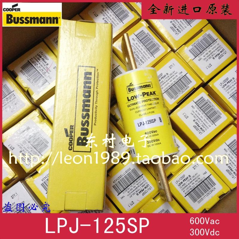 Фотография [SA]United States BUSSMANN fuse LOW-PEAK fuse LPJ-125SP 125A 600V 300V