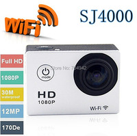 SJ4000 WiFi Sport Action Camera 1080P Full HD digital camera Diving 30M Waterproof Pro Hero 3 winter sport DV camera photo