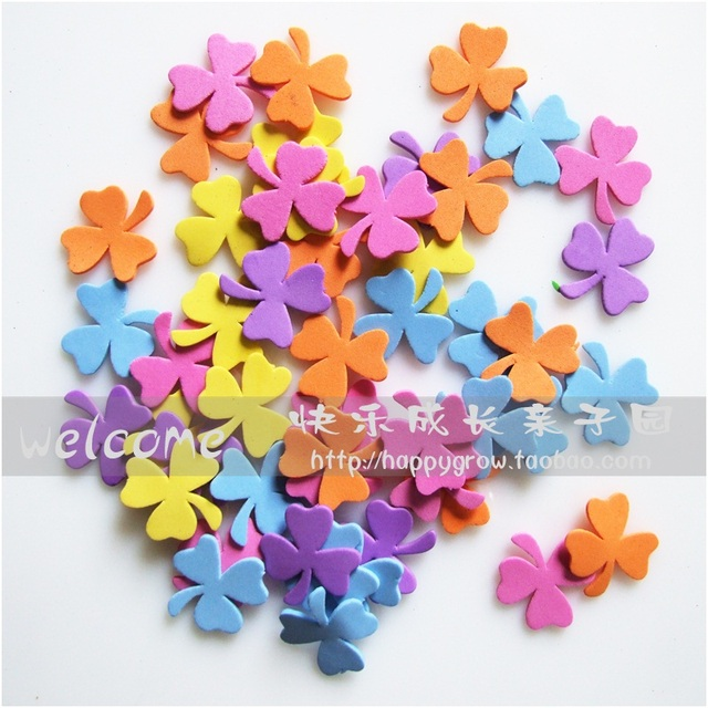 Wall stickers adhesive handmade decoration material foam shampooers
