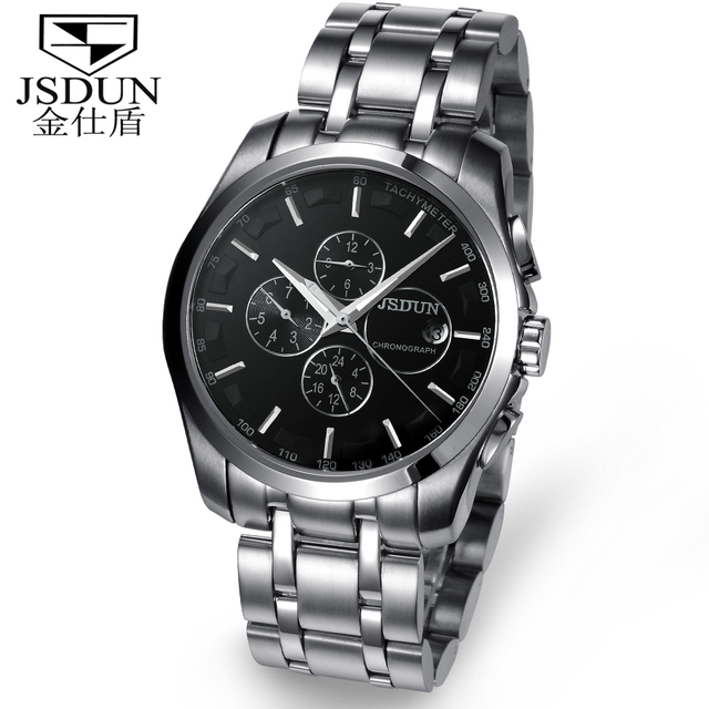 JSDUN Brand Fully-Automatic Mechanical Man Watch Waterproof Self Winding Men's Steel Dress Sports Wrist Watch 8689