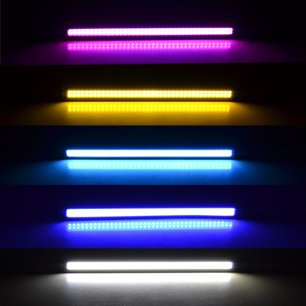 1Pcs 2015 update Ultra Bright LED Daytime Running lights DC 12V 17cm Waterproof Auto Car DRL