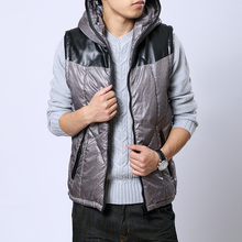 T aliexpress china cheap wholesale 2015 spring Autumn winter New Europe and America style hot sale Men casual warm vest(China (Mainland))