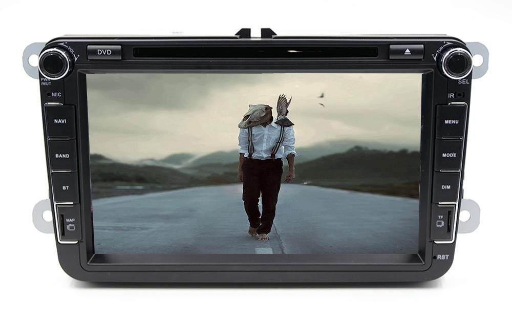 Car 2din VW cheap car dvd players for Volkswagen GOLF VI Navigation GPS Bluetooth Radio USB IPOD Steering wheel Control()