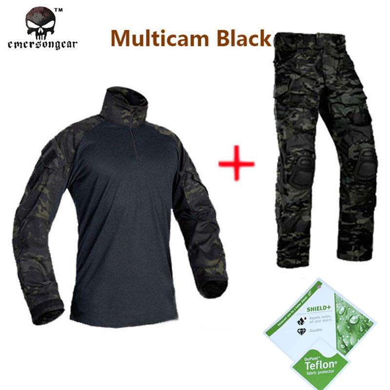 Hunting airsoft  paintball combat tactical military BDU Emerson G3 Multicam black uniform shirt & Pants  MCBK