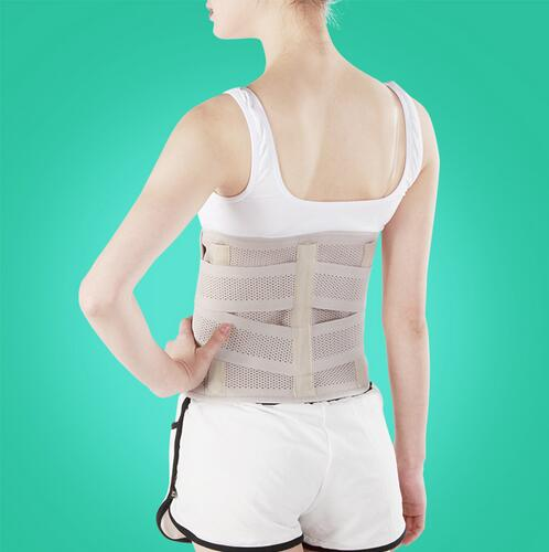 Breathable Lumbar Support Belt Back with 3 ABS Support cartilageTreatment of Lumbar Disc Herniation Lumber Muscle Strain(China (Mainland))