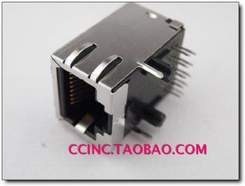 Ude rj45 connector socket network interface network crystal head belt filter(China (Mainland))