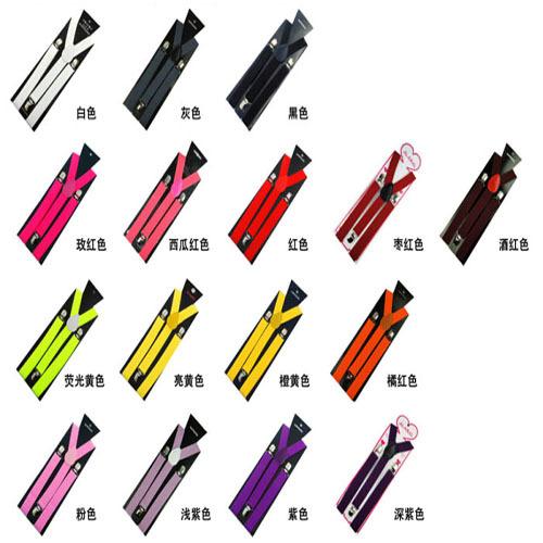 Suspenders 3 Clip 2.5cm Adjustable Braces Belts 300PCS/lot(China (Mainland))