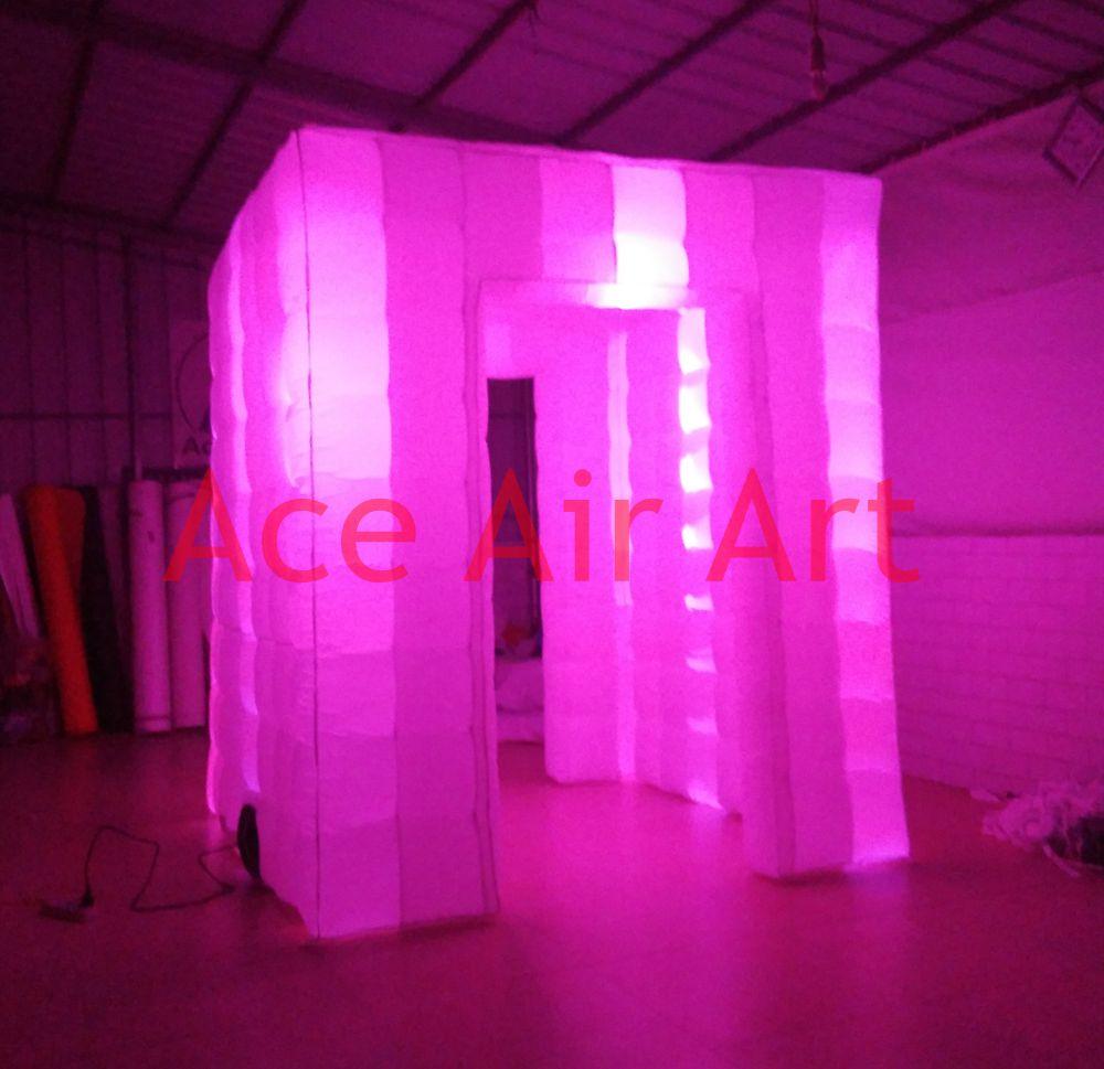 Color booth online - Hot Selling Colorful Changing Led Inflatable Photo Booth For Party With Good Lights System China