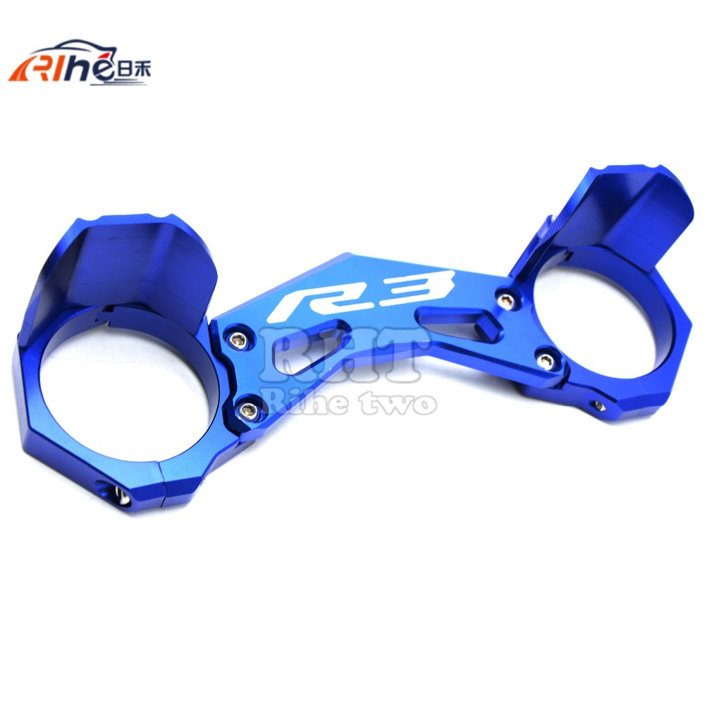 motorcycle carrying fork  holder mounting frone fork bracket damping anti-friction protect for yamaha yzf- r3  yzf r3 2015 2016