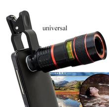 Universal 8X Optical Zoom Telescope Camera Mobile Phone Lens For LG huawei Gloogle nexus 4 5 6 5x 6p glass + metal lenses