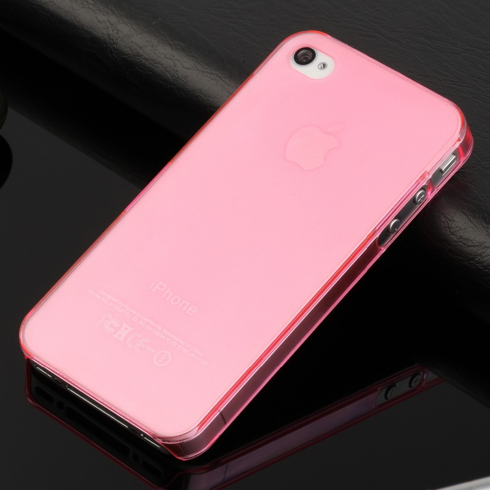 ultra thin slim mobile phone case iphone 4s iphone4 matte crystal clear transparent pc hard cover - YOOD cases & bags store