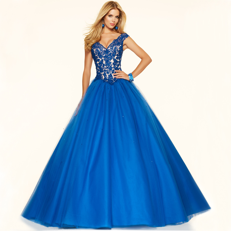 Bf3001 top selling v neck cap sleeve lace princess for Princess ball gowns wedding dresses