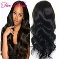 Popular style Ombre U part wigs virgin hair Middle part #1b/#30 Glueless U part virgin Peruvian Wavy wigs for black women