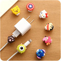 Cartoon Cute Lovely 8 Pin Cable Protector USB Cable Winder Cover Case Shell For IPhone 5