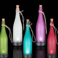 Hot-selling solar bottle lamp led decoration light interspersion pendant light multicolor 5pcs/lot Free shipping