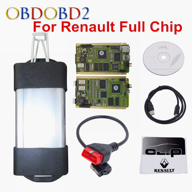 Best PCB Full Chip AN2131QC Latest V167 For Renault Can Clip Diagnostic Interface Multi-Function CAN Clip For Renault(China (Mainland))