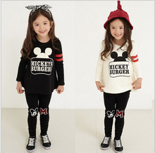 Children's clothing child set autumn female child set T-shirt long-sleeve top trousers baby twinset spring and autumn