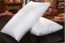 1 Pcs Goose Feather Down Pillow Bedding Soft Feather Texture Nursing Neck Hotel Pillow 48*74cm Filling White Down Cotton Cushion(China (Mainland))
