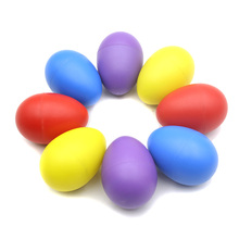 Musical Instrument Pair of Egg Shakers Rattle Rustling Plastic Percussion Musical Toy for Kids KTV Party Games(China (Mainland))