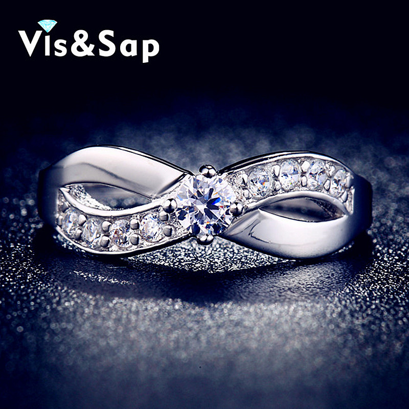 Butterfly ring white gold plated cz diamond wholesale Wedding Rings For Women vintage engagement gifts fashion Jewelry VSR023(China (Mainland))