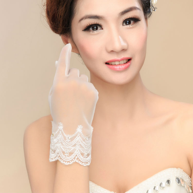 2015 wedding accessories finger wrist length lace women guantes stock bridal gloves vestido 2M031 - ebelz forever store