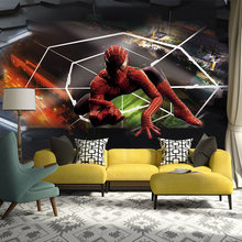 Custom photo mural wallpaper moderno 3d spiderman papel de parede decorativo for bedroom living room kids room wall decal(China (Mainland))